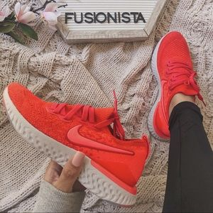 NWT 🍭 Rare Nike Epic React Flyknit Red 5Y/6.5W